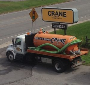Crane Truck and Sign